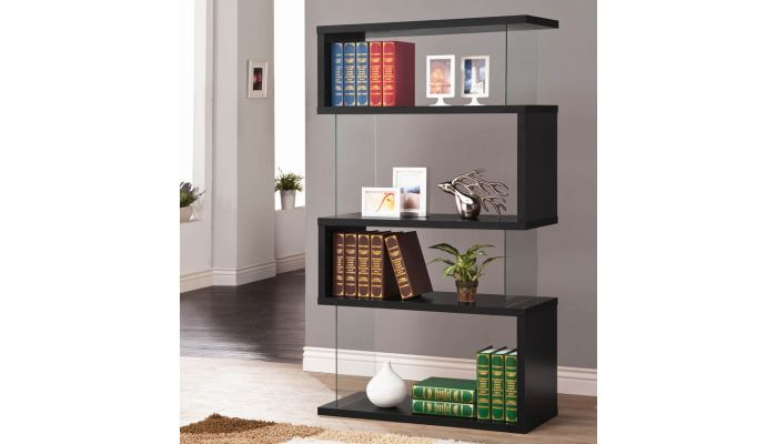 Holray Modern Black Bookcase Display