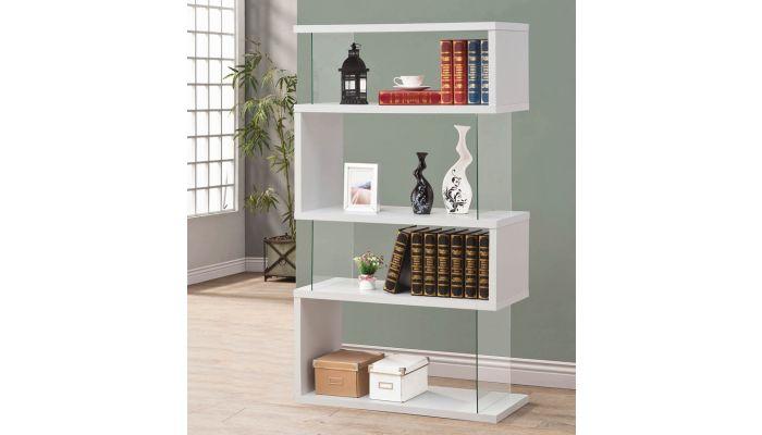 Holray Modern White Bookcase Display