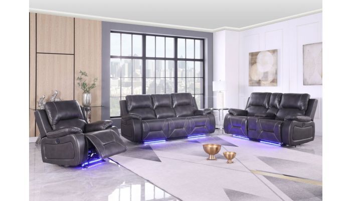 Horace Power Recliner Sofa With LED Light