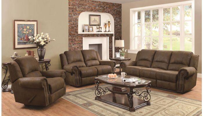 Hoyt Microfiber Recliner Sofa Set