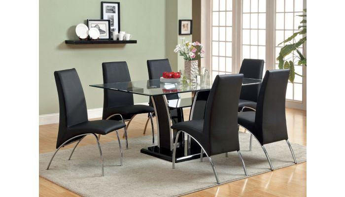 Hulo Black Modern Formal Dining Set, Modern Formal Dining Room Sets