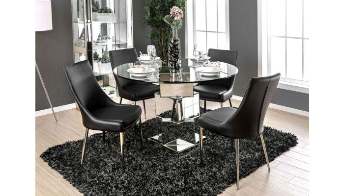 Ikon Mirrored Round Dining Table
