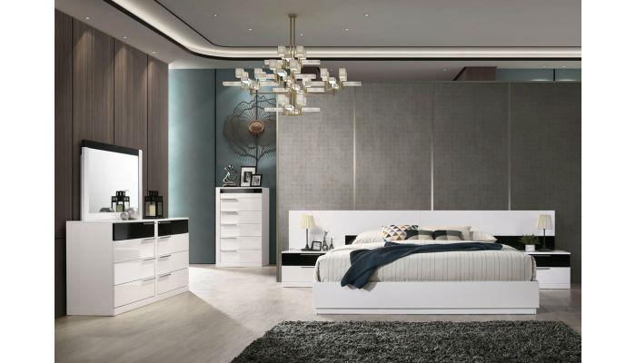 Impera Platform Bed Black & White