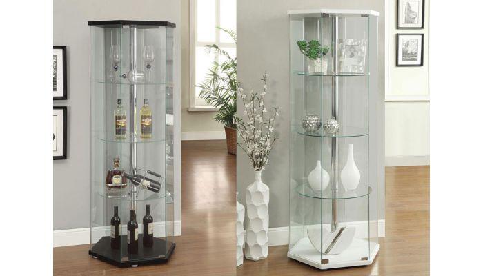 Indigo Modern Glass Curio