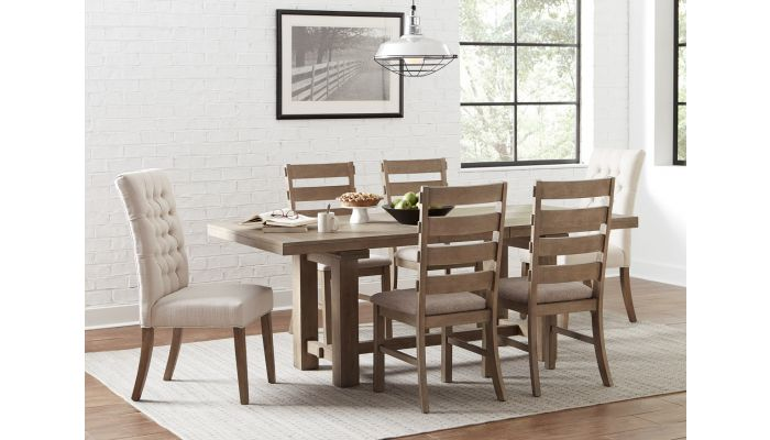Isabella Rustic Oak Dining Table Set