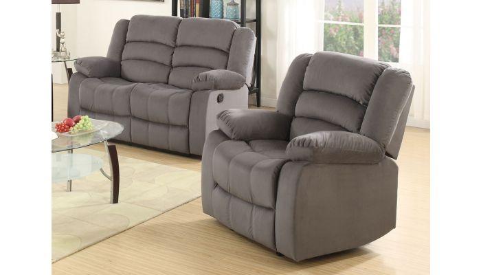Groovy Jagger Grey Fabric Recliner Sofa Machost Co Dining Chair Design Ideas Machostcouk