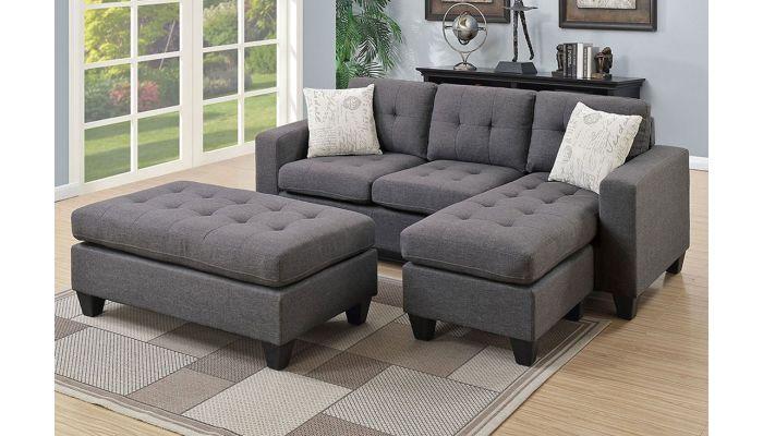 Jordan Fabric Sectional Sofa Set