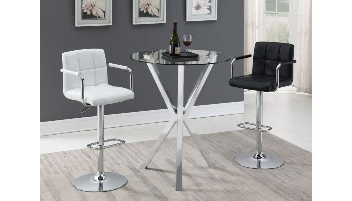 Joy Modern Glass Top Bar Table