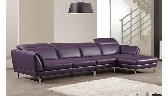 Modern Italian Leather Sectional Set Justian