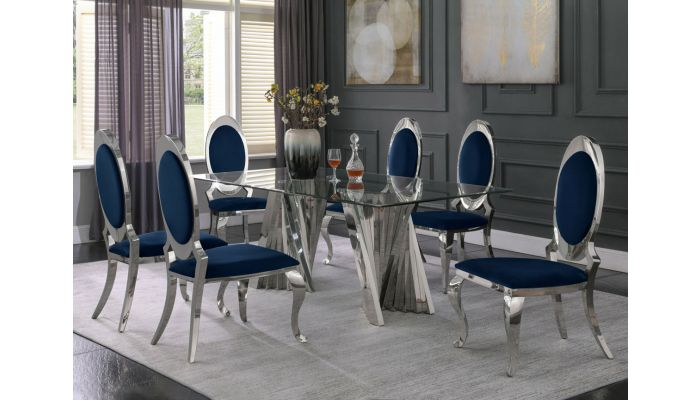 Kappa Glass Top Dining Table Set