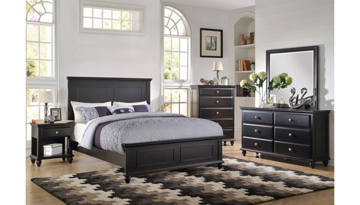 Karina Black Finish Bed