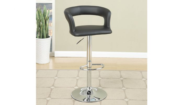 Kori Leather Swivel Bar Stool Set of 2
