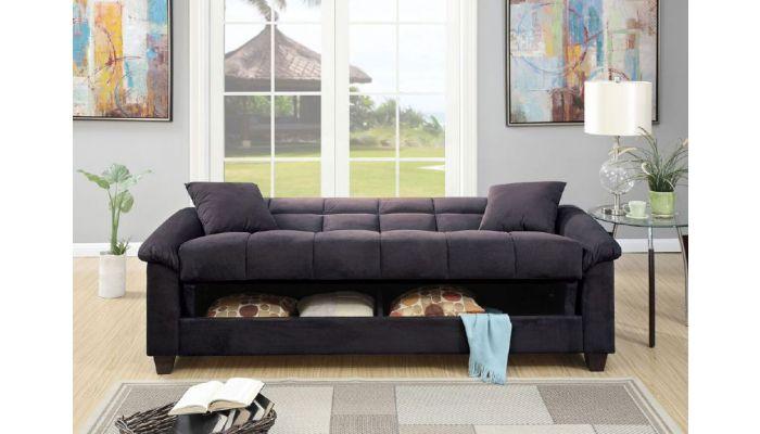 Kylie Microfiber Sofa Bed With Storage