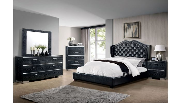 LaGuardia Leather Bed Collection