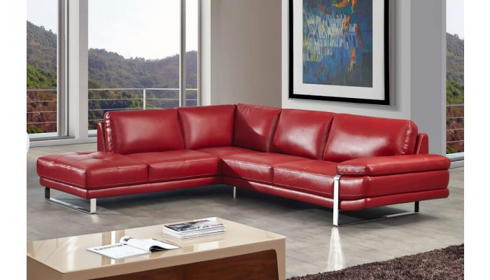 Lara Red Sectional Genuine Leather