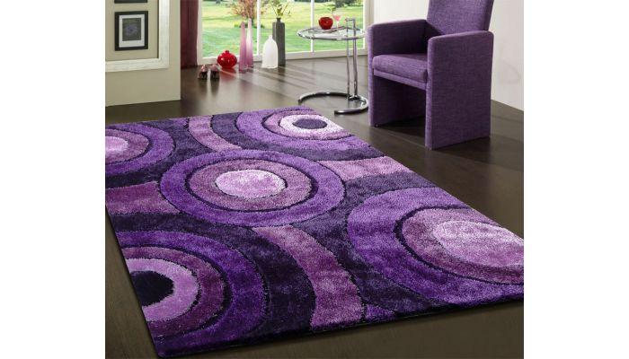 Lavender Shag Rug Modern Design 110