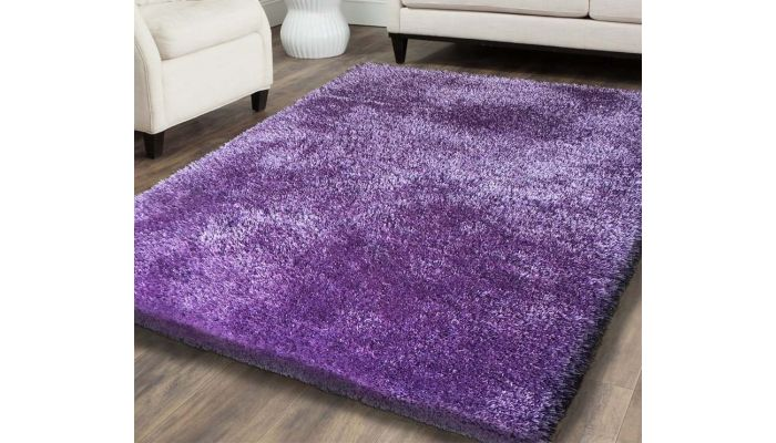 Shag Visco Hand Tufted Lavender Rug