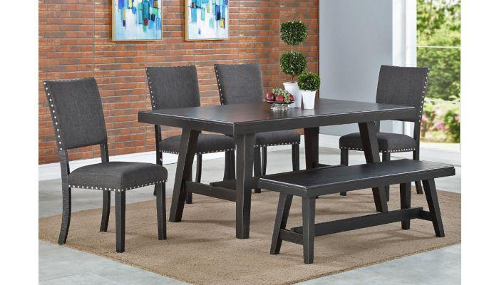 Lavon Black Finish Table Set