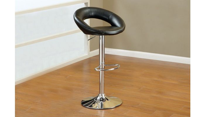 Groovy Leri Black Leather Bar Stool Set Of 2 Pabps2019 Chair Design Images Pabps2019Com