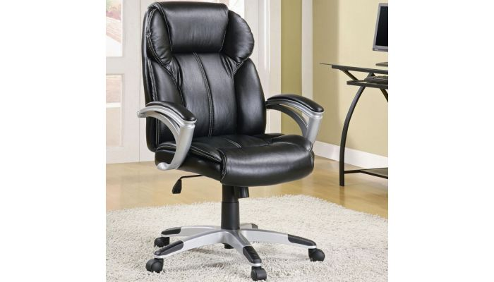 Lewis Black Leather Office Chair