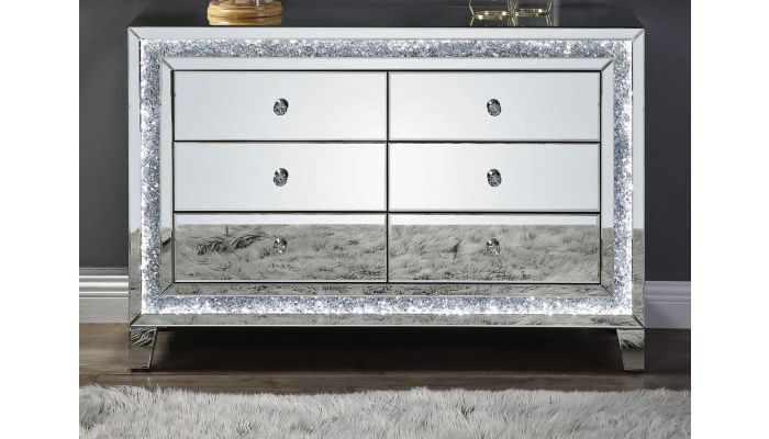 Liam Mirrored Dresser With LED Light