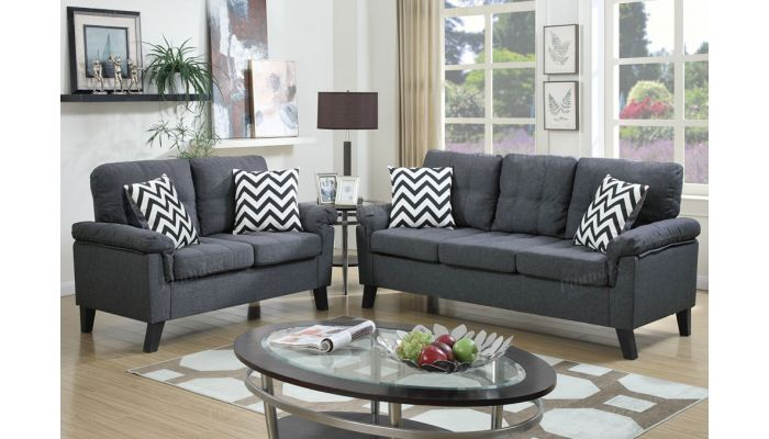 Lily Casual Fabric Upholstered Sofa Set
