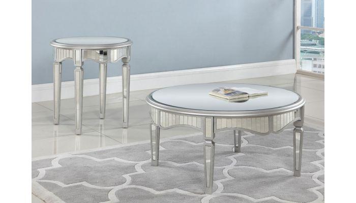 Lindberg Round Mirrored Coffee Table