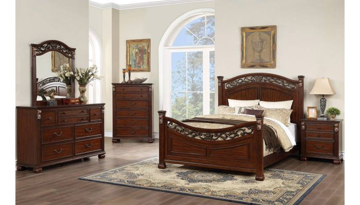 Linford Traditional Style Bed
