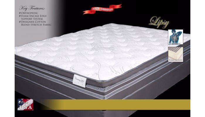 Lipsy Foam Encased Euro Pillow Top Mattress