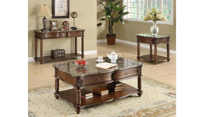 Lockwood Marble Top Coffee Table