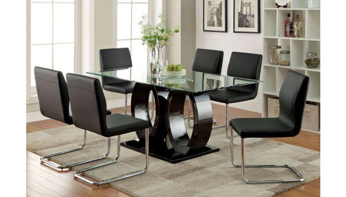 Lodia Black Lacquer Modern Table Set