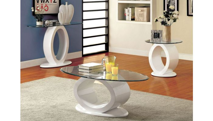 Lodia White Modern Style Coffee Table