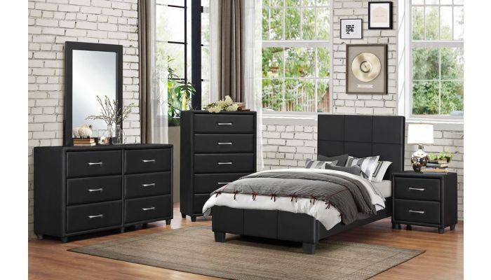 Lorenzi Black Youth Bedroom Furniture