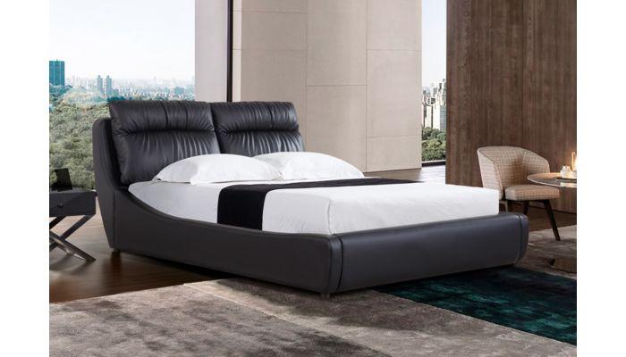 Lorraine Black Leather Storage Bed