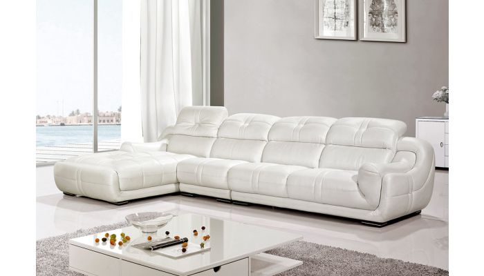 Tremendous Lotus White Genuine Leather Sectional Set Andrewgaddart Wooden Chair Designs For Living Room Andrewgaddartcom