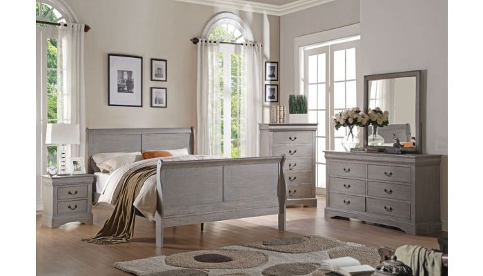 Antique Bedroom Furniture | Louis Philippe Antique Grey Bedroom Furniture