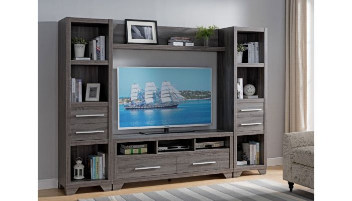 Lowell Rustic Grey Entertainment Center