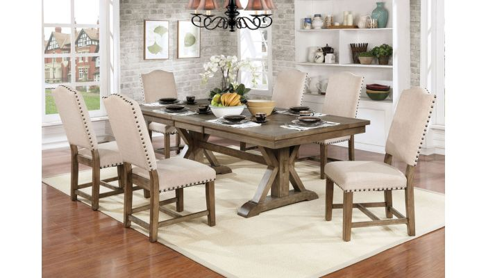 Lowsun Rustic Finish Dining Room Set