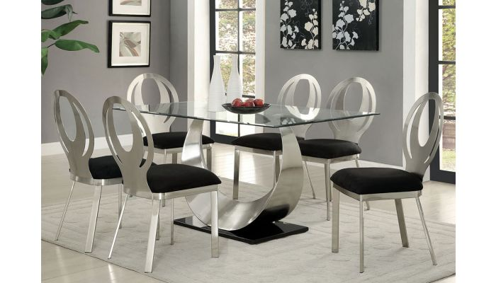 Lucy Modern Glass Top Table