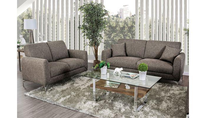 Luiza Brown Fabric Sofa