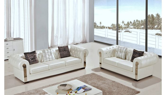 Luna Chesterfield Style Sofa Set
