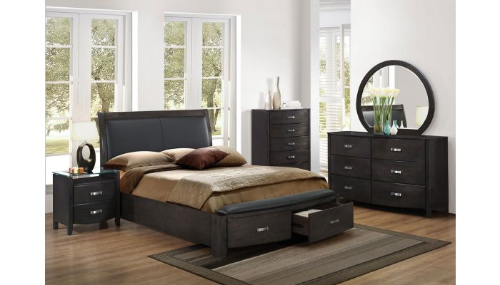 Lyric Modern Style Bed With Drawers