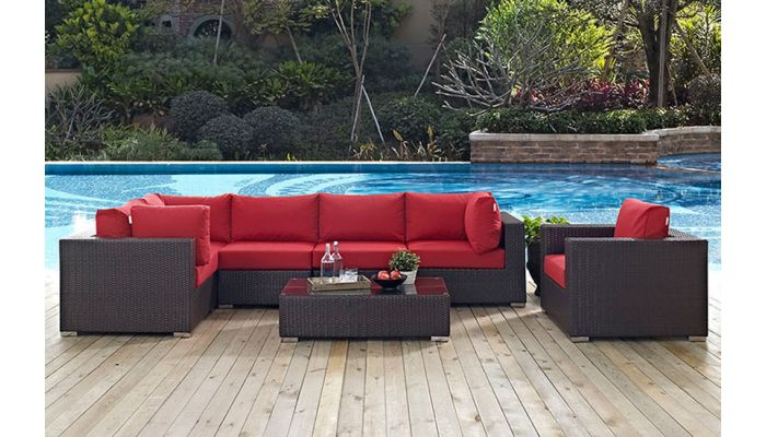 Malin Outdoor Patio Sectional Sofa Set