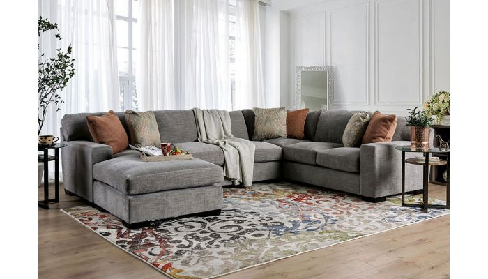 Malory U Shape Chenille Fabric Sectional