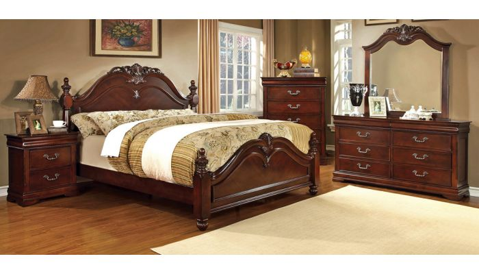 Mandura Traditional Style Bed Collection