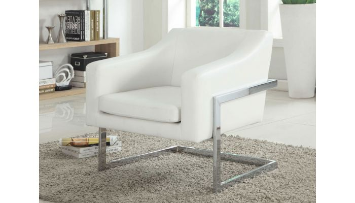 Magnificent Manny White Leather Accent Chair Ibusinesslaw Wood Chair Design Ideas Ibusinesslaworg