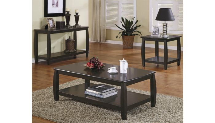 Marina Cappuccino Finish Coffee Table
