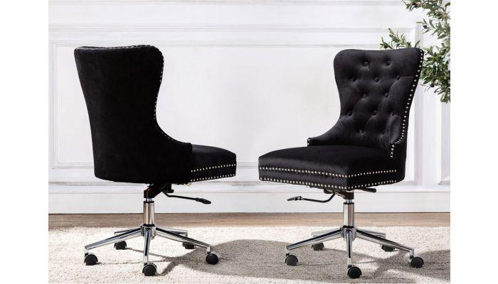 Marshall Black Velvet Office Chair