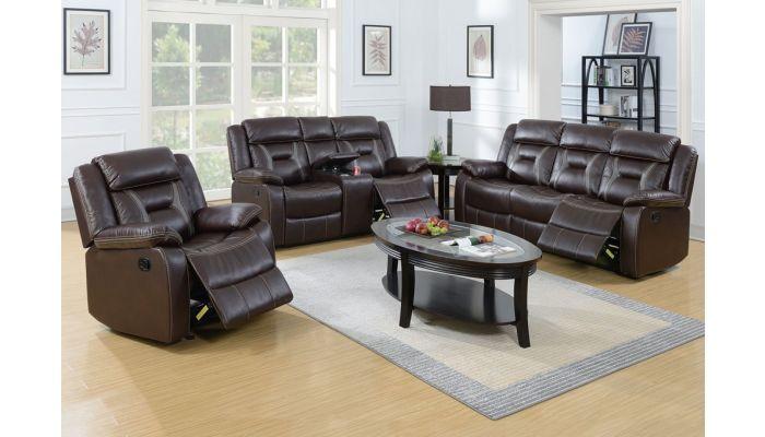 Martin Espresso Leather Recliner Sofa