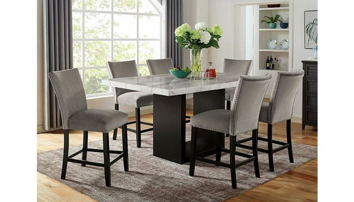 Messa Marble Top Counter High Dining Table